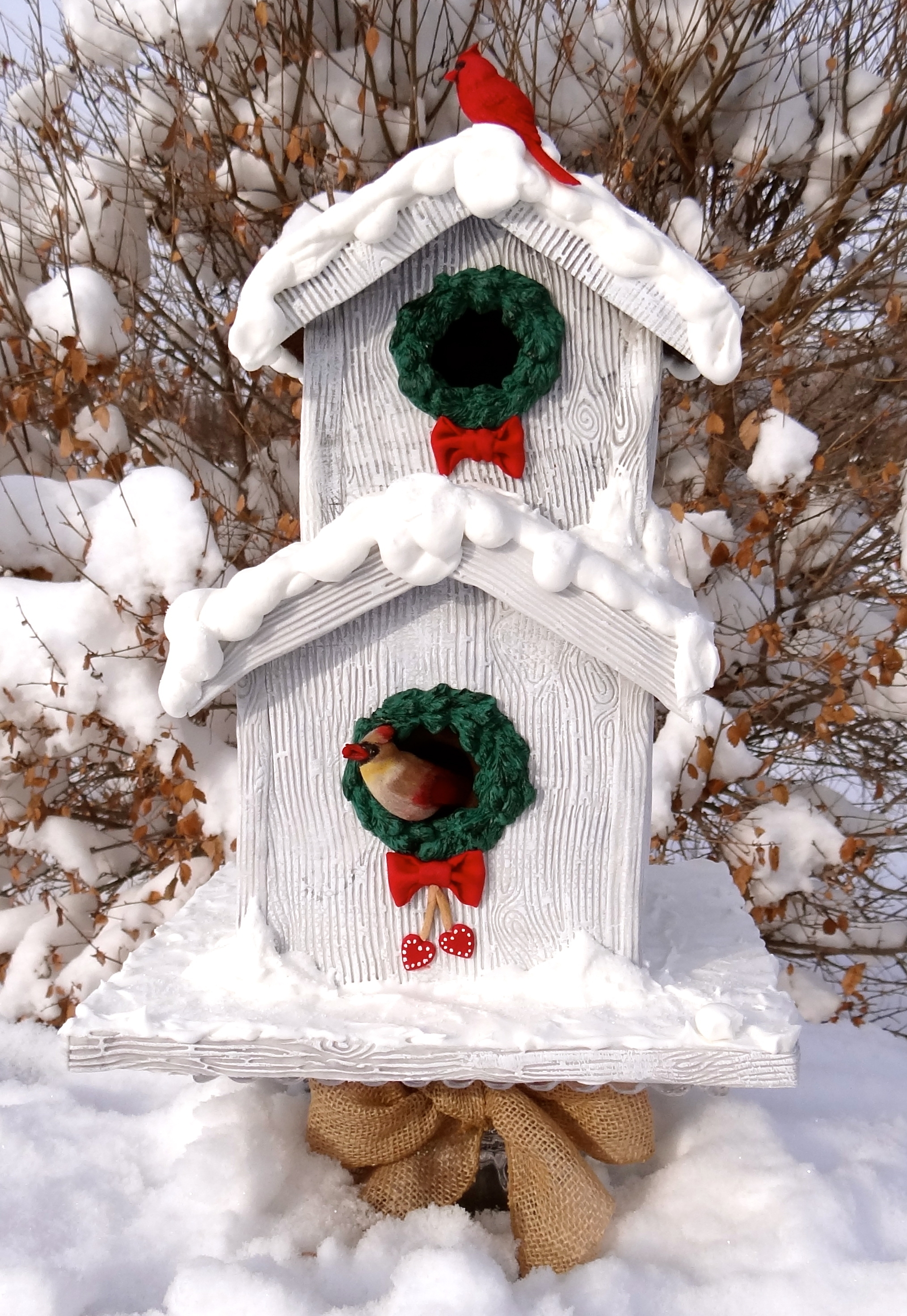 A Weathered Gingerbread Birdhouse