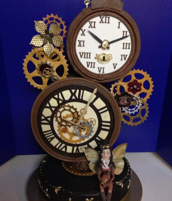 Steampunk Clock Cake