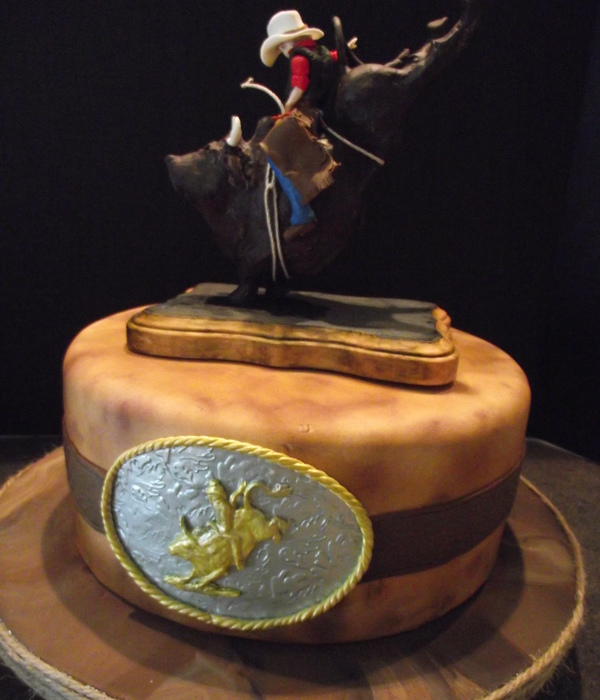 Western Cowboy Bull Rider Rodeo Cake
