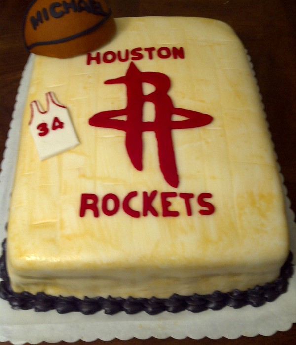 Houston Rocketss Basketball Cake
