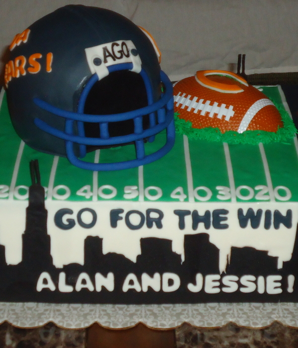 Chicago Themed Grooms Cake