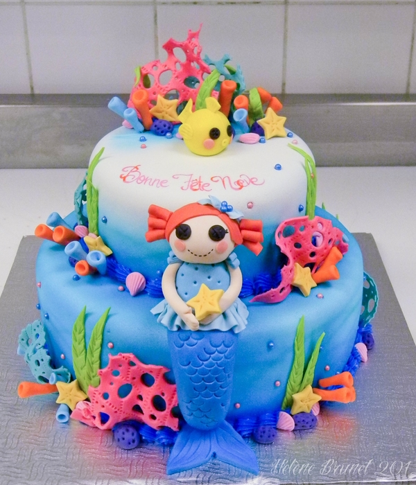 Lalaloopsy Mermaid Cake