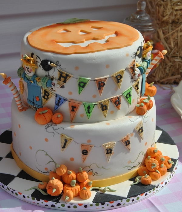 Pumpkins & Scarecrows 2Nd Birthday Cke