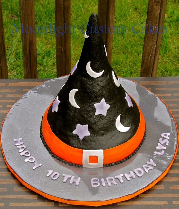 Witch Hat Birthday Cake