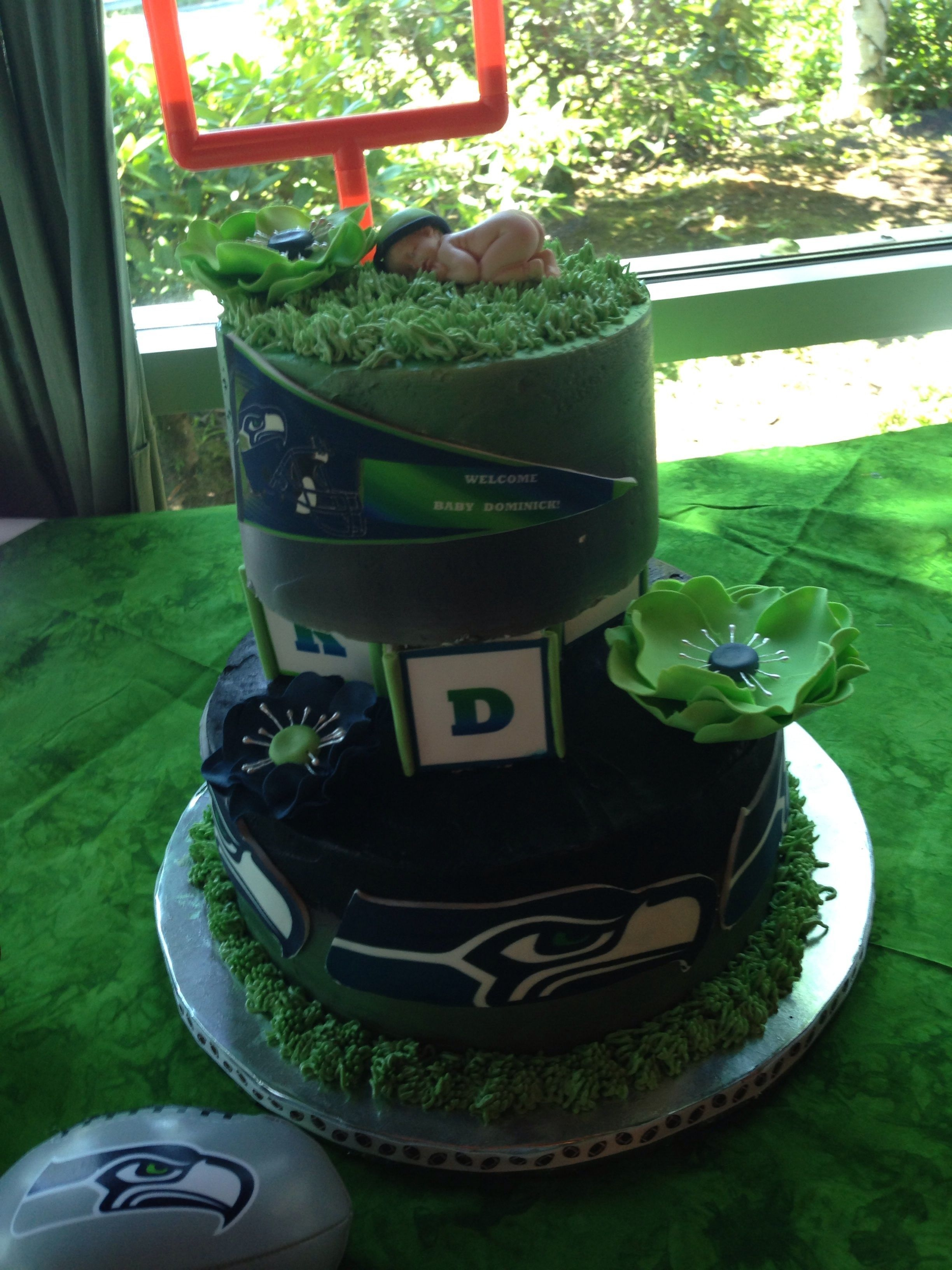 Seahawks Baby Shower Cake