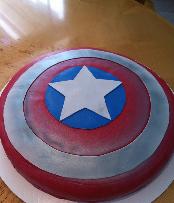 Captain America Avengers Shield Cake