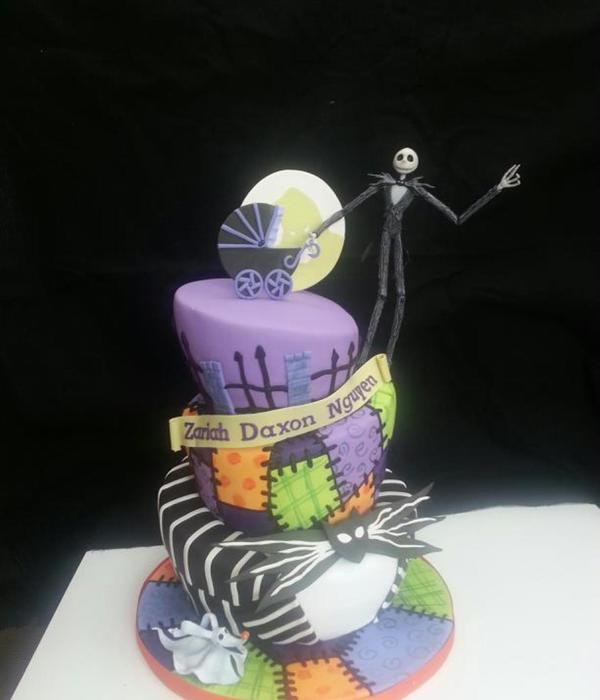 Beautiful Nightmare Before Christmas Baby Shower Cake