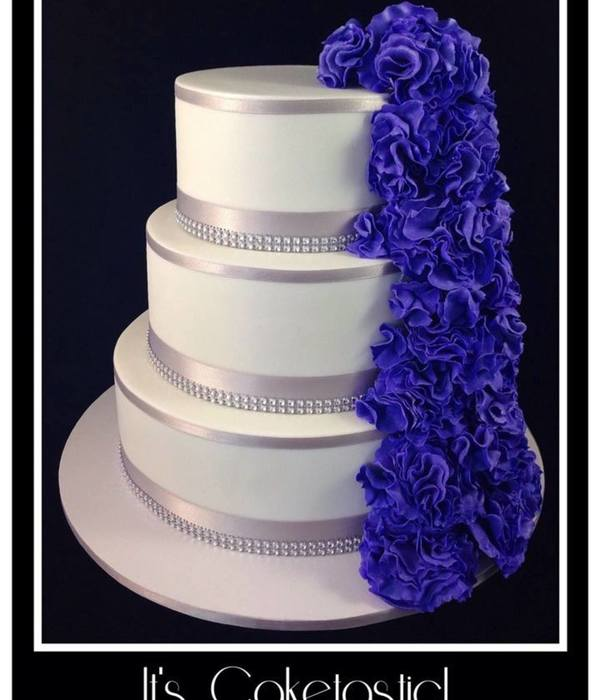 Purple Ruffle Cascade