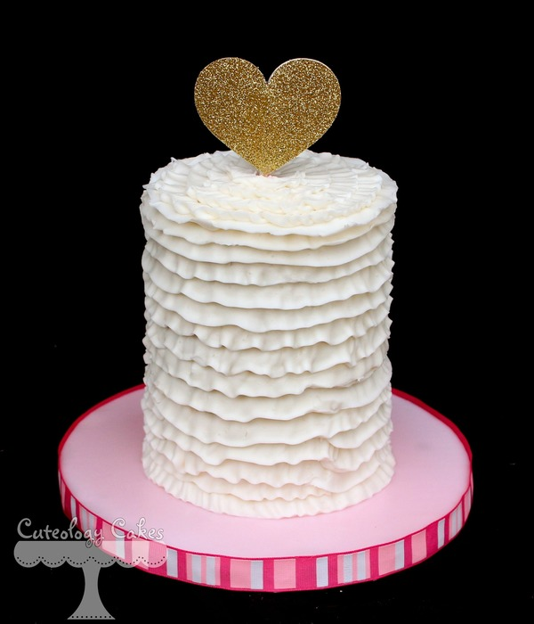 Buttercream Ruffle Smash Cake