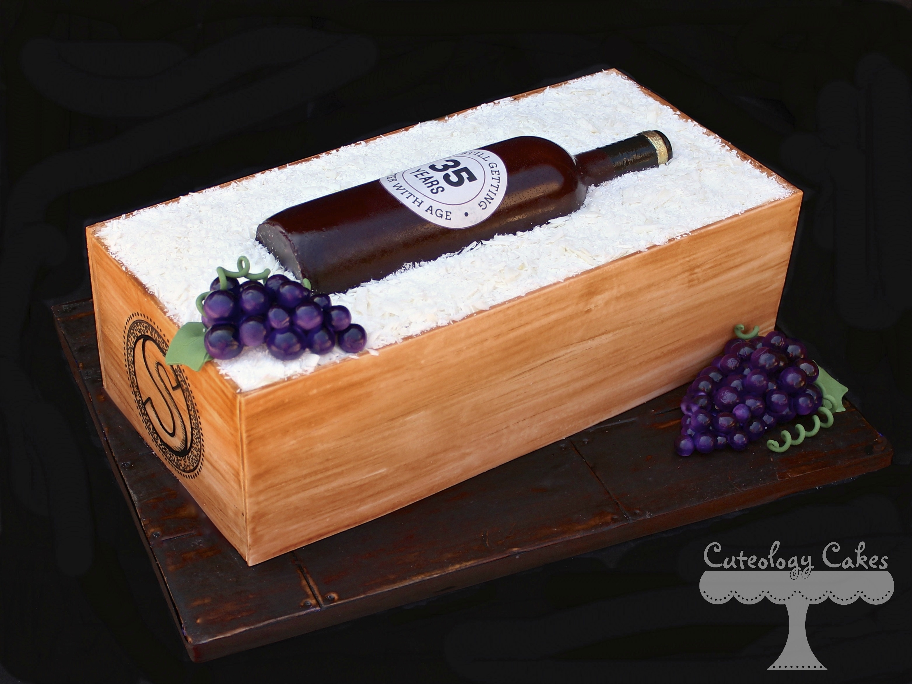 Sugar Wine Bottle Cake