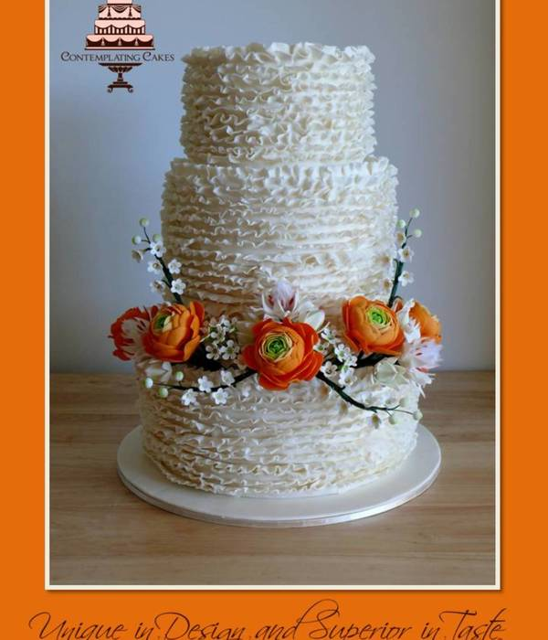 3 Tier 10 Double Barrel 8 6 All Hand Made Sugar Flowers...
