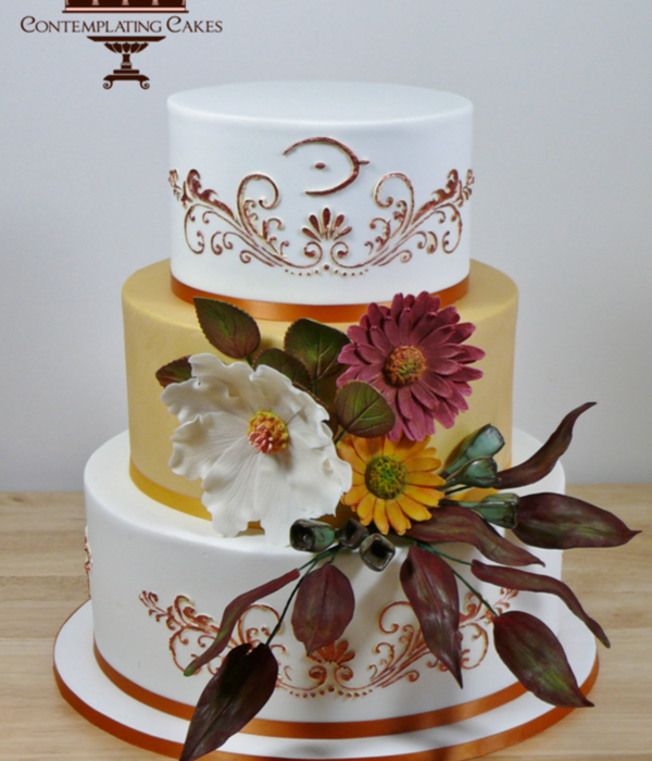 Annie This Cake Has To Go Down As One Of My Favourites Such Gorgeous Warm Autumn Tones And Beautiful Earthy Hand Crafted Sugarpaste Rustic...