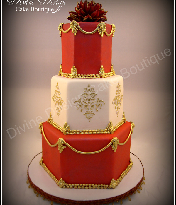 Hindu Inspired Wedding Cake