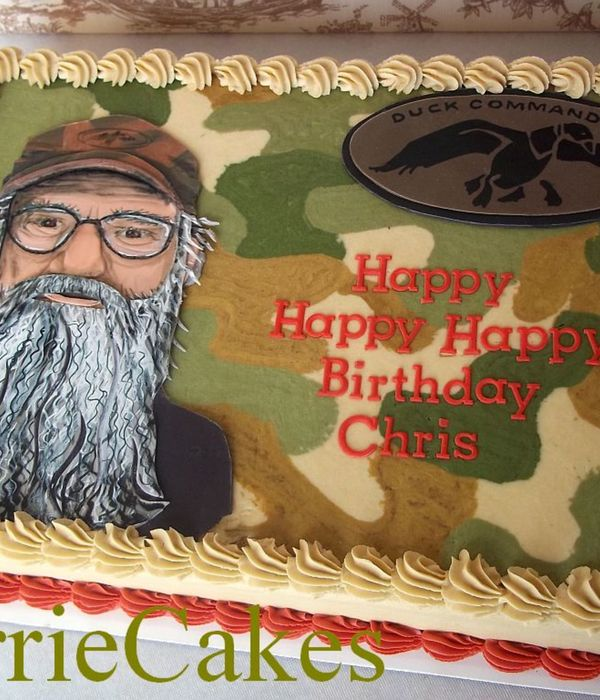 Si Robertson Cake 14 Sheet Iced In Bc With Mmf Decorations Hand Painted