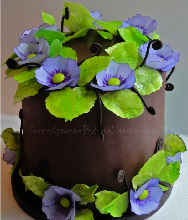 Purple Wafer Paper Flowers