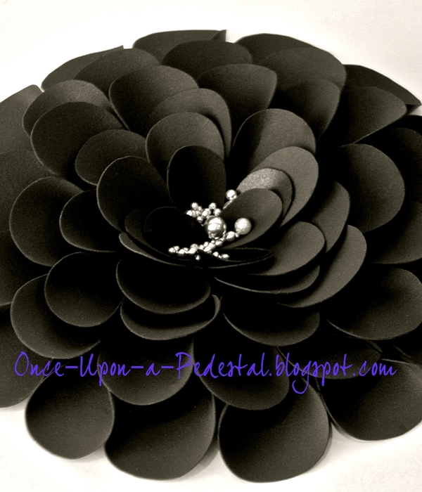 Black And Silver Fantasy Flower