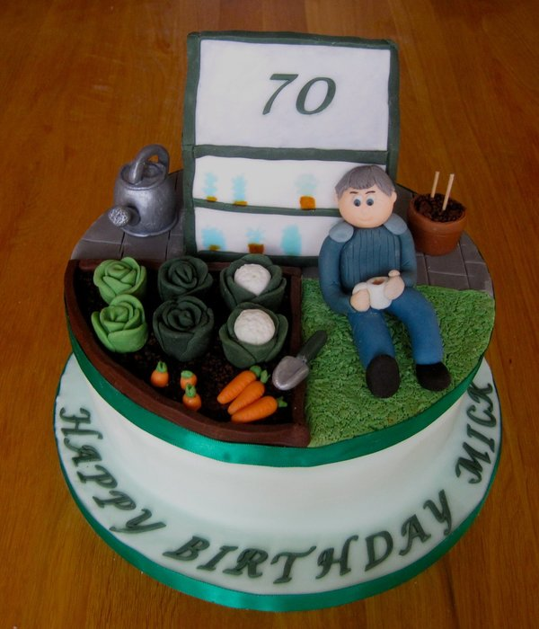 70Th Birthday Allotment Garden Cake