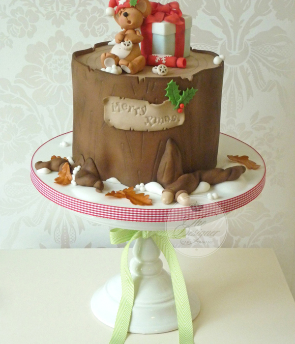 Sleeping Mouse Christmas Cake