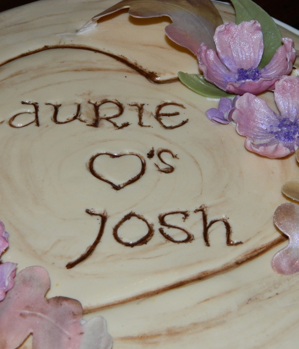 Tree Stump Bridal Shower Cake