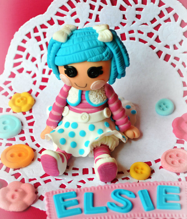 I Was Asked To Do A Lalaloopsy Cakeunfortunately I Already Had A Cake To Make That Day I Did However Make A Little Doll Topper And T