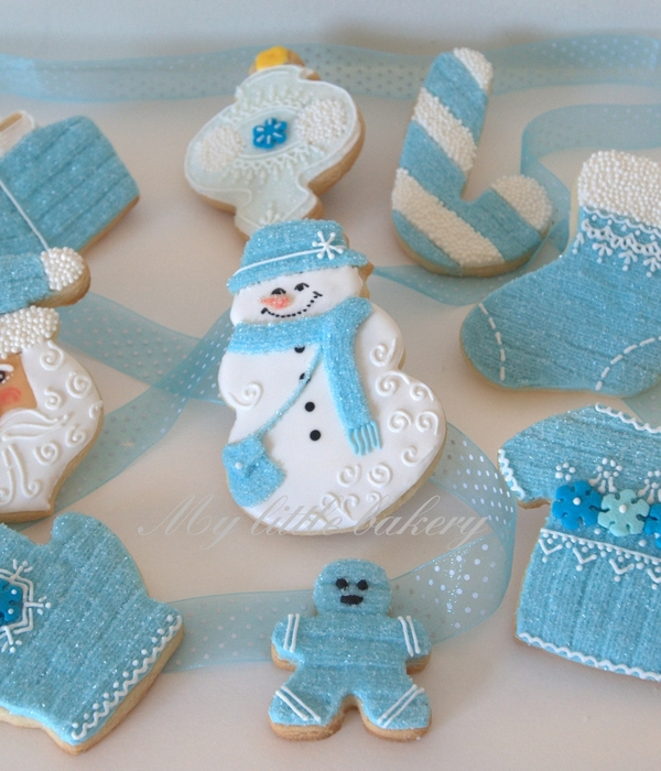 Blue Christmas Cookie Set