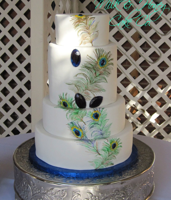 Pea**** Wedding Cake