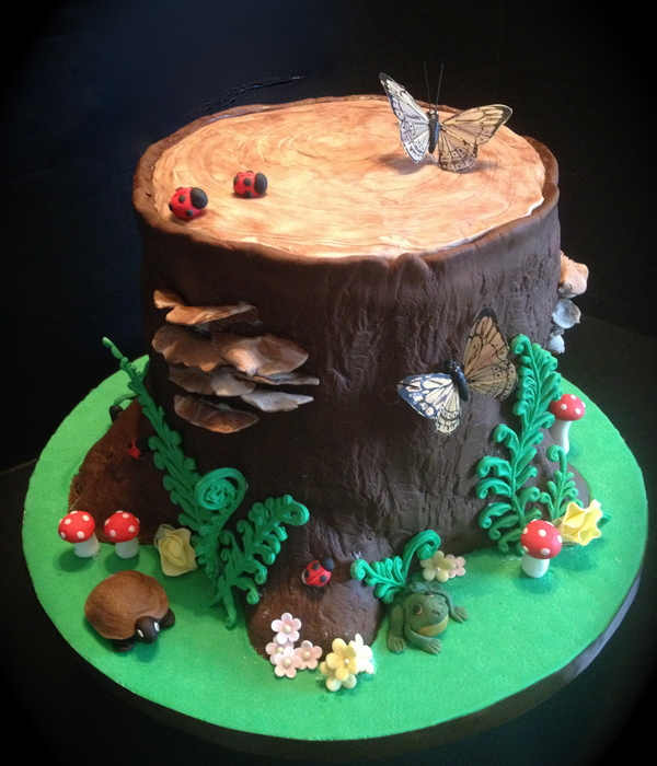 Woodland Tree Stump Cake For My Mothers 60Th I Was Given Specific Instructions That 60 Was Not To Appear Anywhere On This Cake Posted