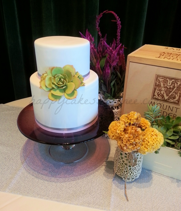 Succulent Bridal Shower Cake