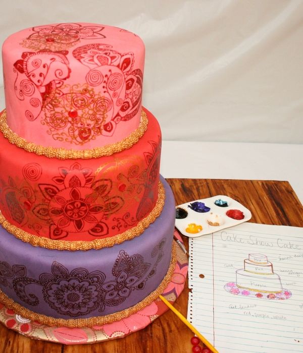 Colorful Henna Cake