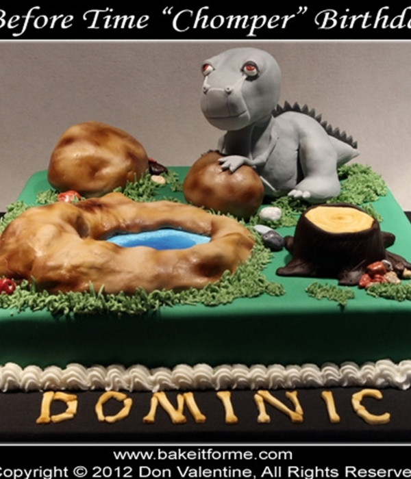 Land Before Time - Chomper - Fondant Cake