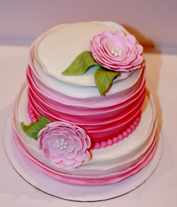 Pink Ombre' Rosette Cake