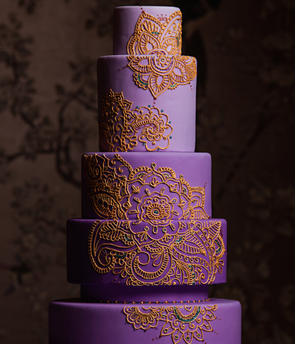 Mehndi Design Cake For Traditions Magazine