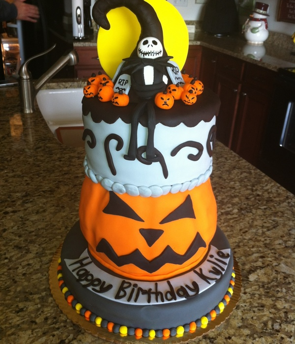 nightmare before christmas birthday cake - Nightmare Before Christmas Birthday Decorations