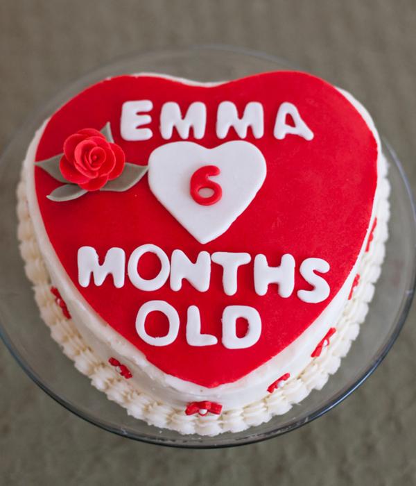 6 Month Old Birthday Cake