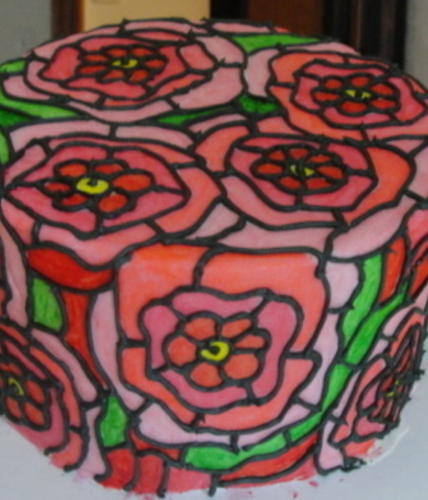 Stained Glass Dummy Cake