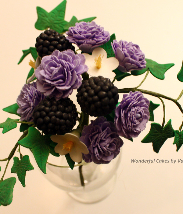 Carnations Blackberries Blossom And Ivy Leaves Made During...