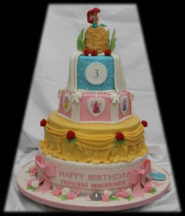 Disney Princess Tiered Cake