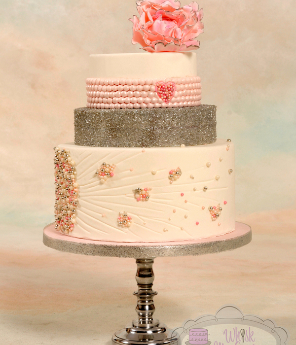 Pink Pearl Wedding Cake For Cc Magazine