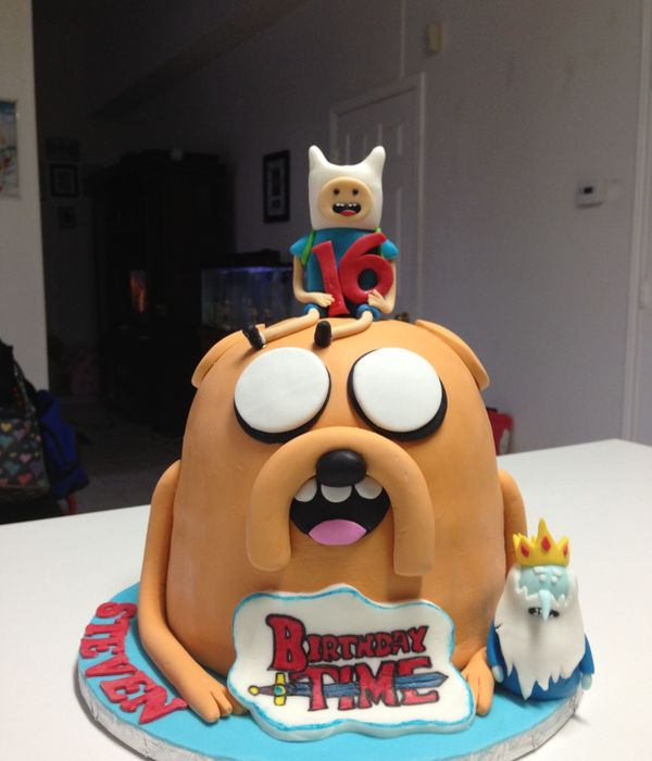 Adventure Time Birthday Cake..