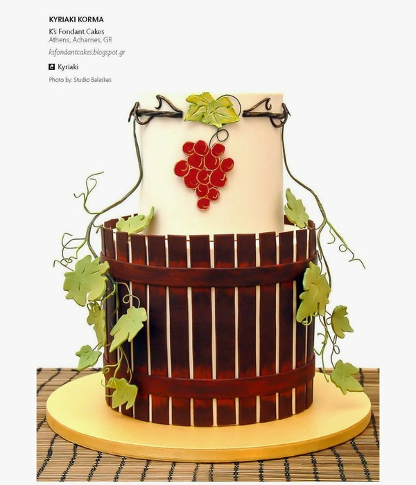 Vintage Vineyard Wedding Cake (August 2013, Volume 4 Issue...