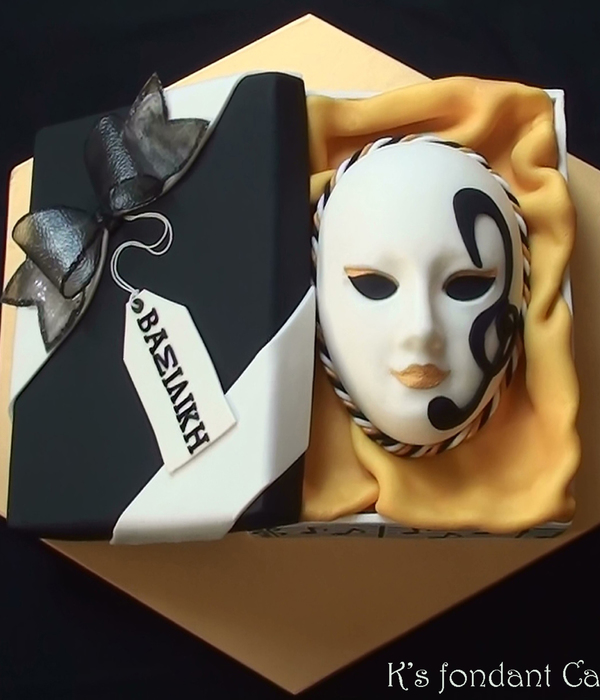 Music Venetian Mask In A Gift Box