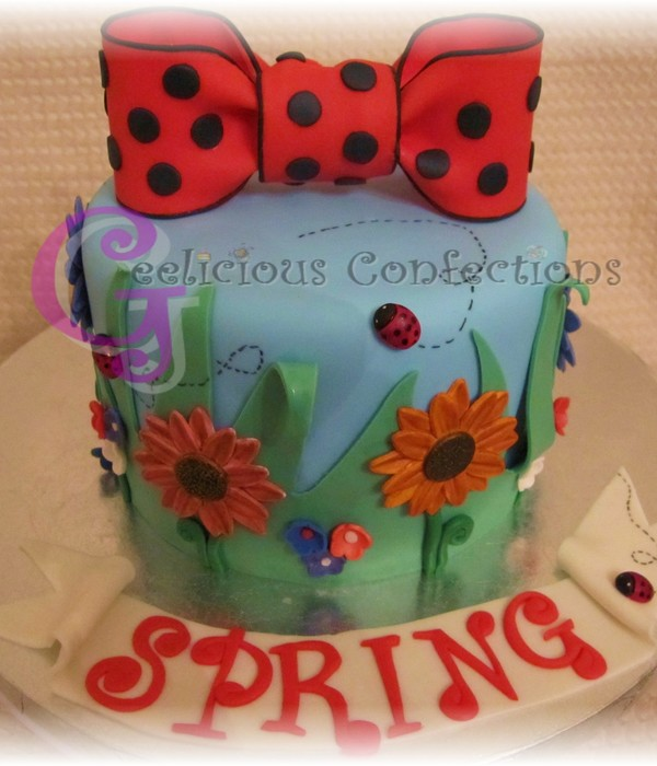 Lady Bugs And Daisies (Spring)
