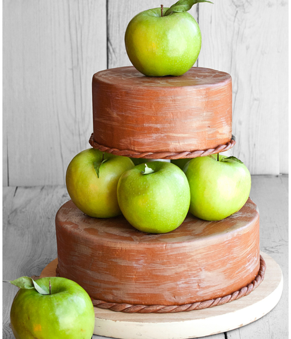 Fall Or Autumn Themed Tiered Apple Cake