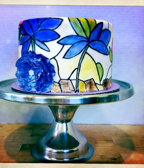 Stained Glass Flower Cake