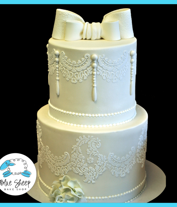 wedding cakes lace and pearl top lace cakes cakecentral 24864