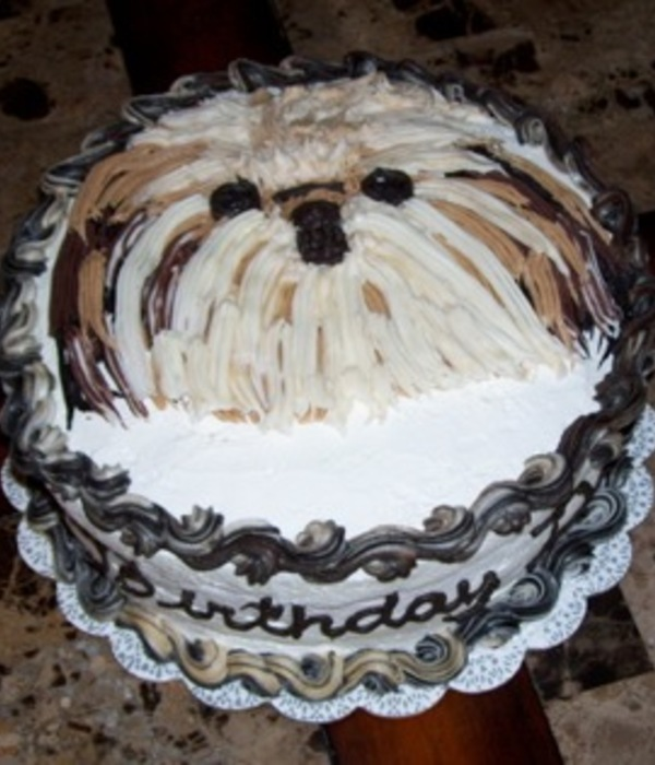Shih Tzu Ice Cream Cake