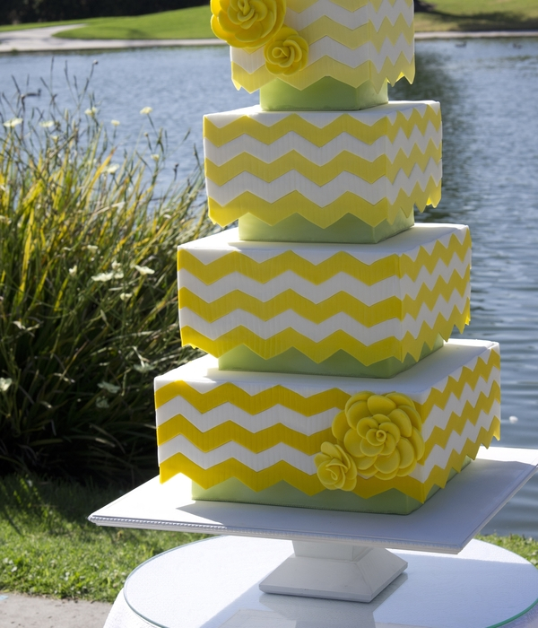 Lemon And Green Wedding Cake For Cake Central Magazine!
