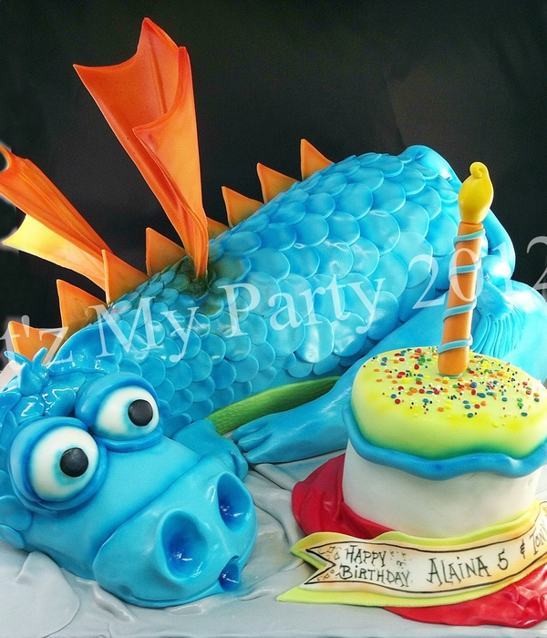 Dimensional Dragon Birthday Cake