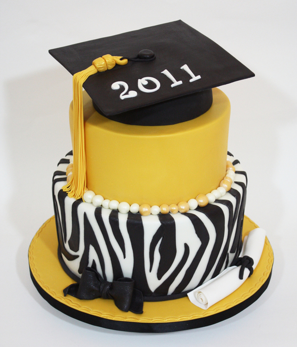 Zebra And Gold Graduation