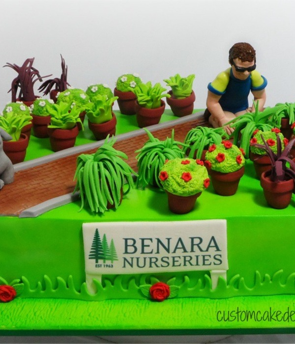 This Cake Was Made For Gavin Who Has Been Growing Plants...